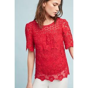 Vanessa Virginia Candace Red Crochet Top 6